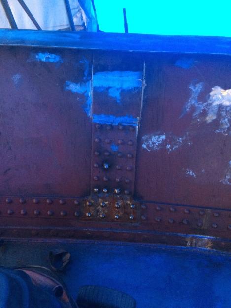 welding on rivets (top empty)