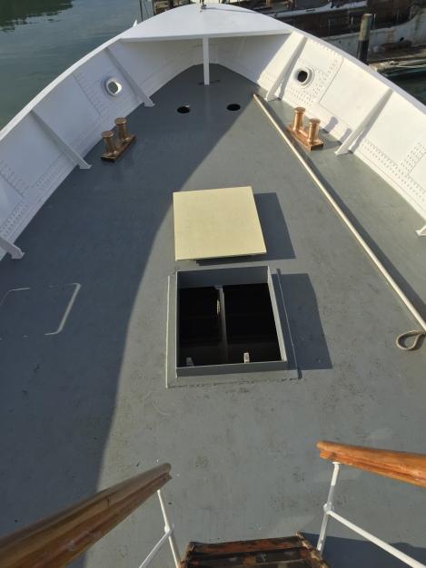 bollards installed, temp hatch